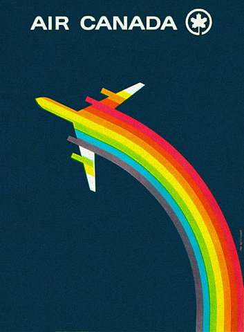 Air Canada Rainbow flight poster
