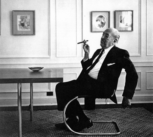 Mies Van Der Rohe on a Brno Chair