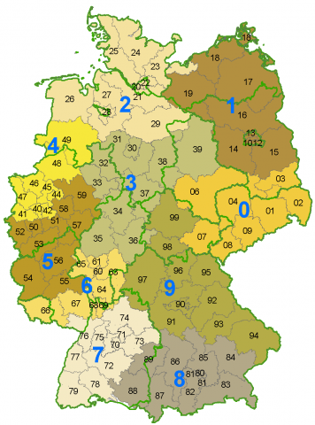 German Postcode Map