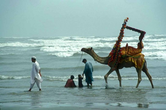Beach in Karachi, Pakistan