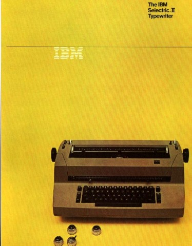 IBM SE II Typewriter Brochure