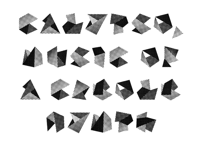Fold Calypso by London Designers Alias http://alias.dj/blog/graphic-not-typographic/