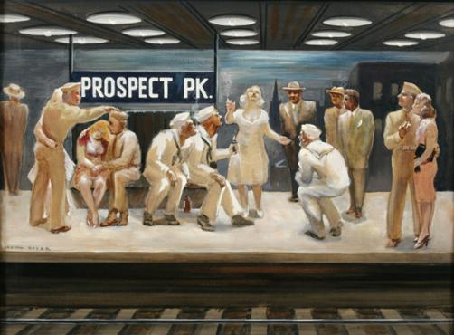 Prospect Park Subway Station New-York-in-WWII